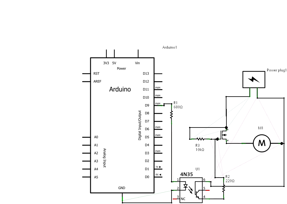 controlling a led strip\u0027s brightness using mosfet and anfor some reason the author connected the fet\u0027s gate to the base, not the collector of the phototransistor also the load (a motor) is wrongly connected to